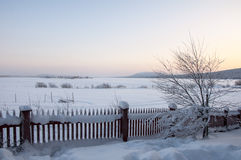 Fence in Lapland Royalty Free Stock Photography