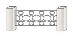 Fence lattice Royalty Free Stock Image