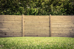 Fence on lawn Stock Photos