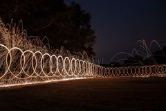 Fence of light Stock Photography