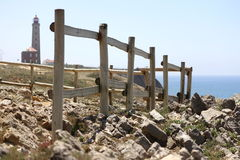 fence in a lighthouse Royalty Free Stock Images