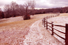 Fence line Stock Images