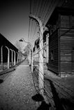 Fence line at Auschwitz Concentration Camp Royalty Free Stock Image