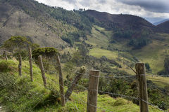 Fence line in mountains Stock Photo