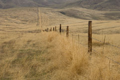 Fence line in the sage brush Royalty Free Stock Images