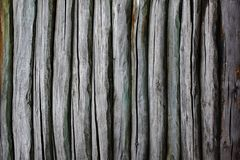 Fence from logs Royalty Free Stock Photo
