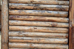 Fence from logs Royalty Free Stock Image