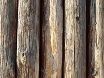 A fence of logs Royalty Free Stock Photo