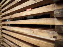 Fence of long square wooden boards. Horizontal. Fence of long square wooden boards royalty free stock images