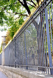 Fence at Luxembourg Garden in Paris Stock Photos