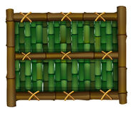 A fence made of bamboo stock illustration