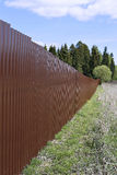 Fence made of brown metal professional flooring Stock Photos