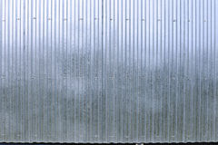 Fence made of galvanized, stainless steel professional flooring Royalty Free Stock Image