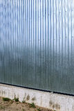 Fence made of galvanized, stainless steel professional flooring Stock Image