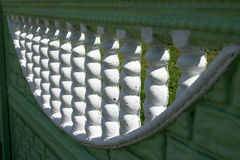Fence. Made of gypsum at sunny day Royalty Free Stock Photo