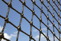 Fence  made of hemp rope Royalty Free Stock Photo