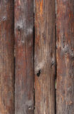 Fence made of logs Royalty Free Stock Images