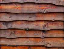 A fence made of pine boards. wood texture. Royalty Free Stock Photos