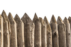 A fence made of stakes Royalty Free Stock Photos