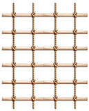A fence made of wood and rope. Illustration of a fence made of wood and rope on a white background Stock Photography