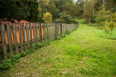 Fence made of wood Stock Image