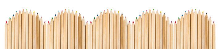 Fence made with wooden pencils Royalty Free Stock Photography