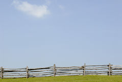 Fence meet sky. Virginia Countryside landscape stock images