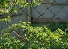 fence of metal wire Stock Photo