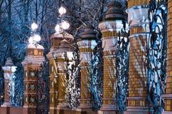Fence of the Mikhailovsky Garden Royalty Free Stock Photography