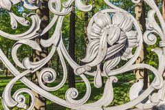 Fence of the Mikhailovsky Garden in Saint Petersburg Royalty Free Stock Images