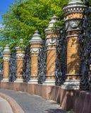 Fence of  the Mikhailovsky Garden. Saint Petersburg Stock Photo