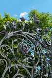 Fence of Mikhailovsky garden, St. Petersburg Stock Image