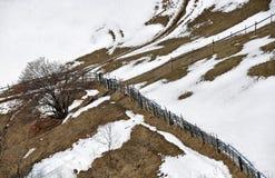 Fence mountain Stock Image