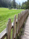 Fence in a mountain path Stock Photo