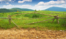 Fence in the mountains Royalty Free Stock Image