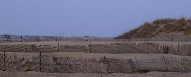 Fence at Muskegon State Park Royalty Free Stock Photography