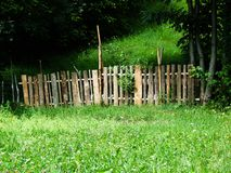 Fence in nature royalty free stock photo