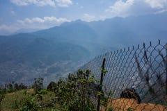 Fence near Sapa, Vietnam. stock photos