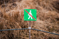 Fence with a no entrance sign Stock Photography