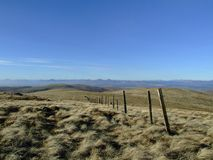 Fence in Ochil Hills Royalty Free Stock Images