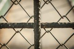 Fence, off walkway bridge Royalty Free Stock Images