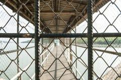 Fence, off walkway bridge Stock Photo