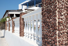 Fence in Oia, Santorini Royalty Free Stock Photos
