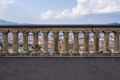 Fence. An old fence on observation site in Florence royalty free stock photography