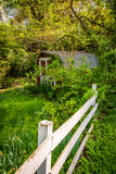 Fence and old shed in Ellicott City, Maryland. Stock Photos