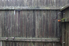 Fence-Old Worn Out-Background Stock Photo