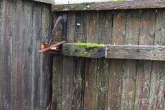 Fence-Old Worn Out-Background Royalty Free Stock Photography