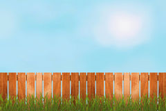 Fence over the sky Stock Photo