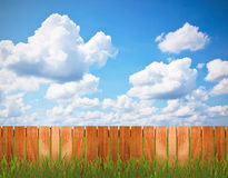 Fence over the sky Royalty Free Stock Photography