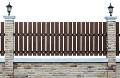 Fence. Over the white background Royalty Free Stock Photography